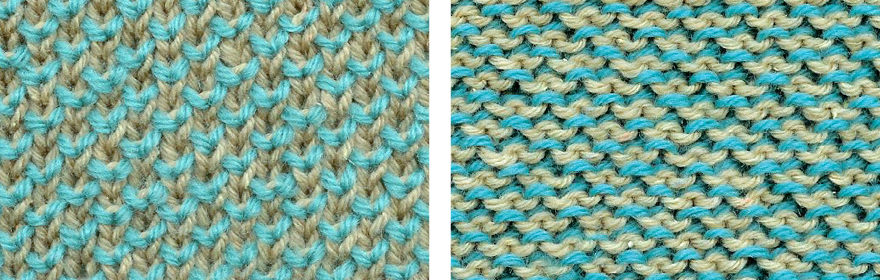 Color Brioche Stitch Scarf Two Color Pearl Brioche Stitch