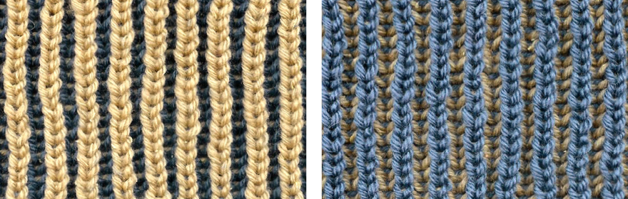 Two Color Double Knitting In The Round : Color brioche stitch